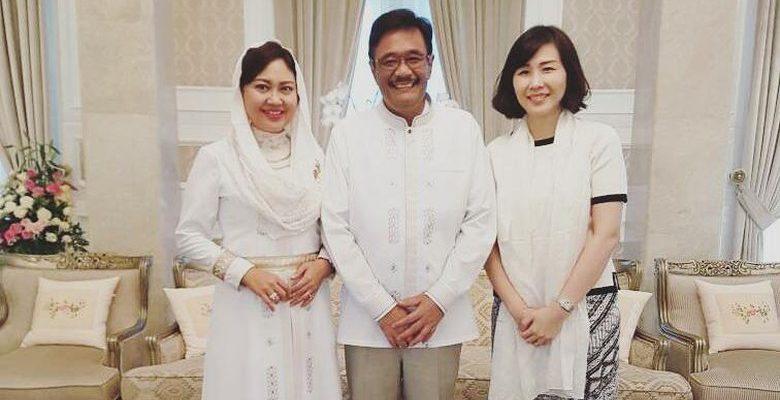 Tanpa Ahok, Veronica Tan Silaturahmi ke Djarot Saiful Hidayat