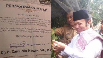 Bupati Lampung Zainudin Minta Maaf Soal Pidato Singgung Ketum PBNU