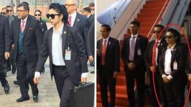 Netizen Kepo, Gara-gara Pengawal Cantik yang Mendampingi Jokowi di Dhaka