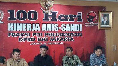 PDIP DKI Sebut Anies-Sandi Buat Jakarta Berubah 180 Derajat dengan Dalih Keberpihakan