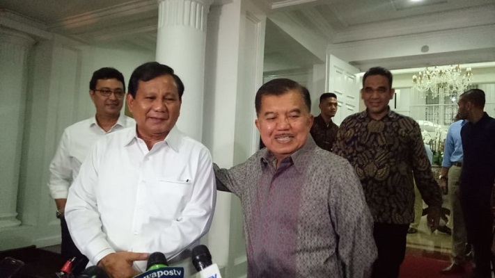 Terlibat Izinkan Prabowo Kelola Lahan di Kaltim, JK: Daripada Jatuh ke Asing