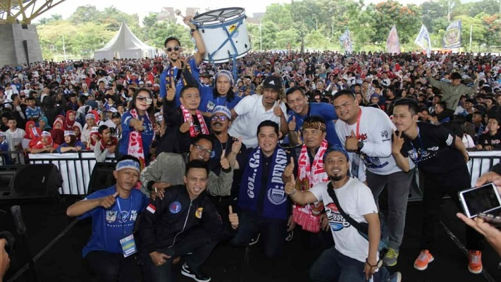 Dihadiri Erick Thohir, Sekelompok Bobotoh Deklarasi Dukung Jokowi-Ma'ruf