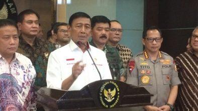 Wiranto Meminta Pangdam dan Kapolda Mengajak Masyarakat Tak Ke Jakarta Pada 22 Mei 2019
