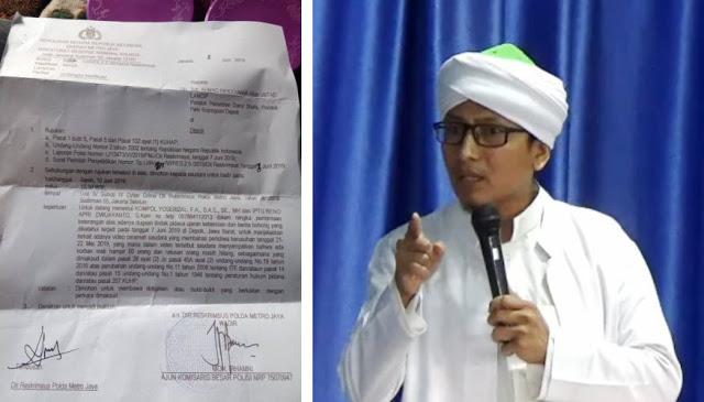 Polisi Kirim Surat Panggilan Terkait Video Ceramah Ustaz Lancip Soal Aksi 22 Mei