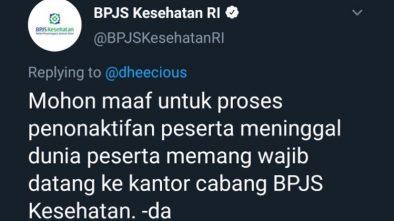 Viral Kicauan BPJS Kesehatan Jadi 'Bulan-bulanan'Netizen