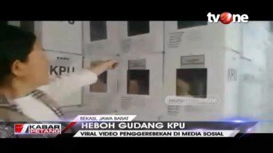 Viral Video Relawan BPN Sidak Gudang KPU Bekasi, Ini Penjelasan Bawaslu
