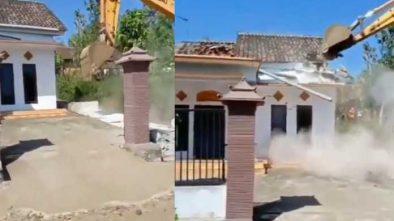 Viral Diduga Istri Selingkuh Rumah Dihancurkan, Polisi Ungkap Fakta Sebenarnya